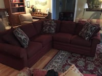 brown fabric sectional sofa with throw pillows 2294 mi