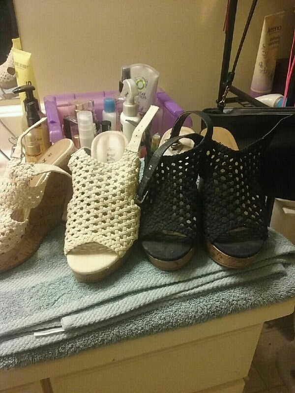 bc4ce9a3bab Used pair of black leather open-toe heeled sandals for sale in Columbia -  letgo