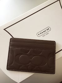 New Coach slim wallet, card case