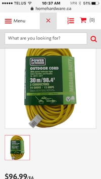 OutDoor 30m extension cord  Brandnew Edmonton