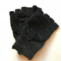New! Soft Knit Gloves with Silver Highlights Fairfax