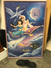"""Aladdin 24""""wide by 35""""long framed picture perfect condition Ronkonkoma, 11779"""