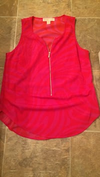 Women's red sleeveless shirt Mission, 66202