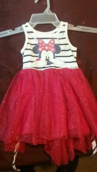 girl's white and red Minnie Mouse dress Columbus, 43211