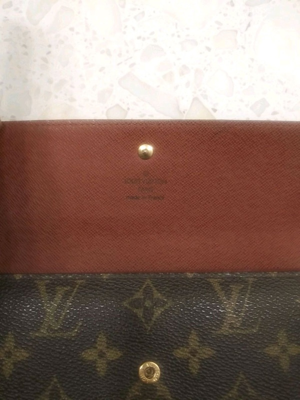 Used Louis Vuitton checkbook and credit card wallet for sale in ... 371afd9aa5960