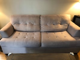 Couch in fair condition available for pick up on 1/25