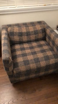 gray and black fabric sofa chair Rockville, 20852