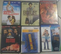 DVDs $2 each or all 5 for $8
