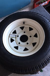Trailer Tire NEW 530-12 5 hole