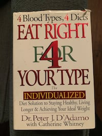 Eat right for your blood type hard cover