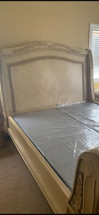 Ca king sleigh bed solid wood