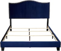 black and white wooden bed frame Somerset