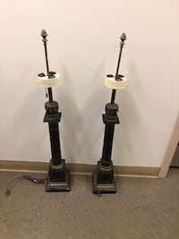 Two large antique French empire lamp
