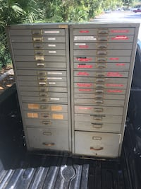 16-Drawer Index Cabinets Lot of 2, Negotiable  Clover, 29710