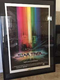 Star Trek The Motion Picture Original Movie Poster. Professionally framed. Washington, 20003