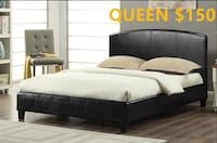 Brand new black queen faux leather platform bed frame warehouse sale 多伦多, M1P