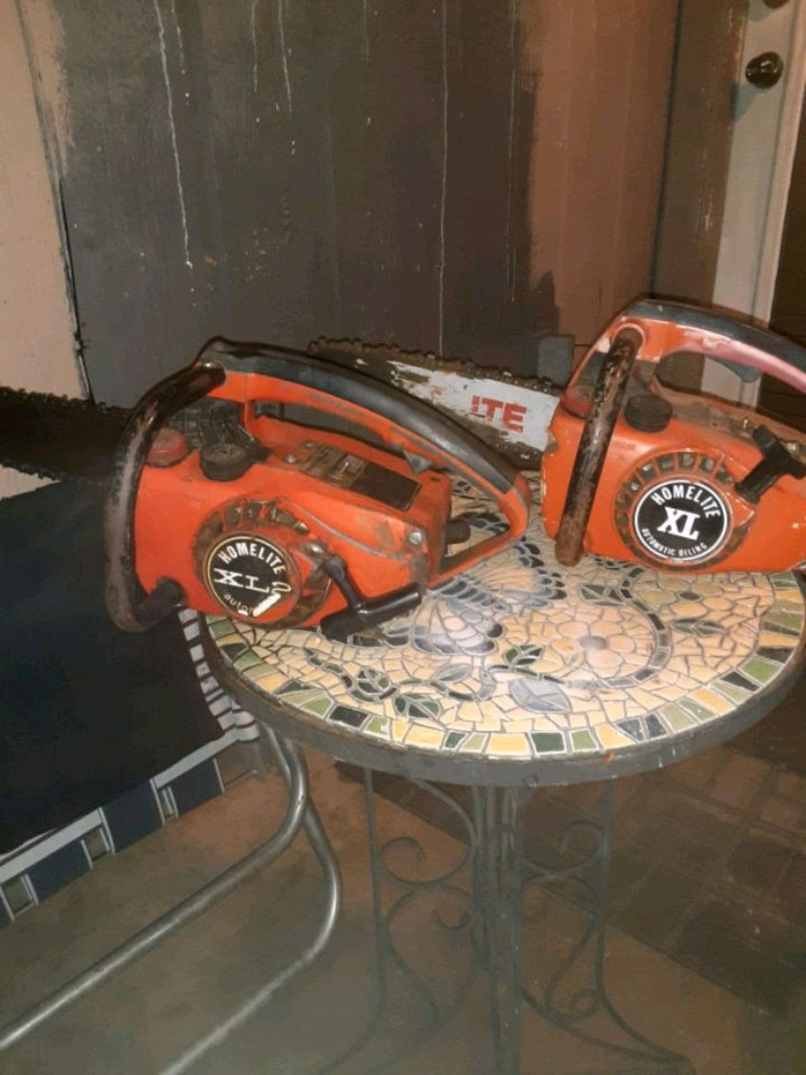 Photo 2 vintage Homelite XL Textron Chainsaws ($30 for both!)