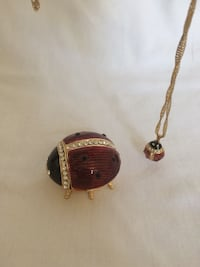 ladybug Necklace and Trinket Box