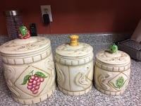 three white ceramic canisters Surrey, V3S 2X9