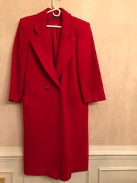 Red Winter Coat. 100% Pure Wool. Made in USA Norfolk, 23518