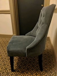 Blue grey polster chair from world market Washington, 20009