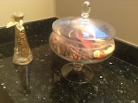 Glass jar with Potpourri and decorative bottle oil Vancouver