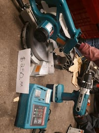 blue and black Makita power tool set Kitchener