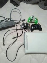 white XBOX 360 with game controllers East Point, 30344