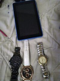 3 watches all work just need battery Kendell fire tablet 7 inch  Portland, 97230