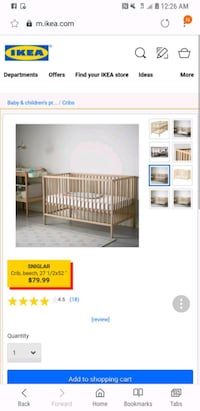 Ikea crib INSIDE SALE SAT 20 @9am  Lorton, 22079