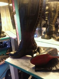Black studded knee high boots North Vancouver, V7N 3T9