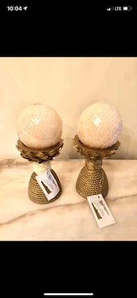 Candle holders with candles NEW