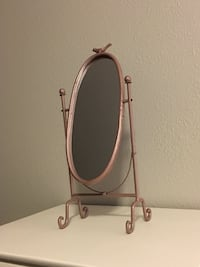 Tall tilting vanity mirror-rose gold color Vancouver, 98682