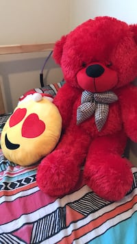 red and white bear plush toy CHARLOTTETOWN