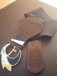 black leather silver buckle belt Ontario, M1W 2X9