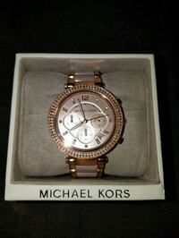 round gold Michael Kors chronograph watch with link bracelet Gaithersburg, 20877