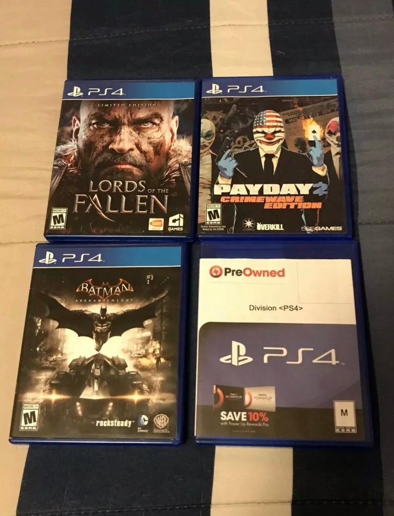 four assorted PS4 game cases for sale  Paterson