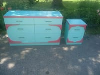 Dresser and night stand few spots where paint came Hampstead, 21074