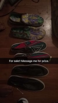 three pairs of slip-on shoes