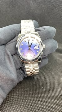 Rolex datejust  C/L./0./N./E with Diamond  CZ markers analog watch silver watch automatic watch Toronto
