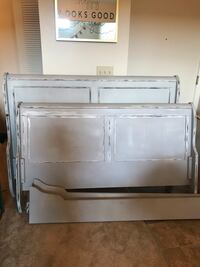 Rustic hand painted queen bed frame Grand Rapids, 49546