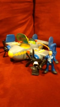 Imaginext helicopter and man