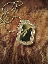 silver-colored and black gemstone pendant Louisville, 40206