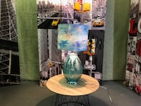 """River of Goods Impressionist Collection Hand painted Shade 26"""" Table Lamp - Morning Glory Oshawa"""