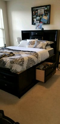 Queen size bed frame with storage Falls Church, 22042