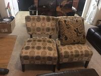 two brown-and-black fabric sofa chairs Katy, 77450