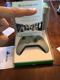 Grey and Green Xbox one Slim Controller