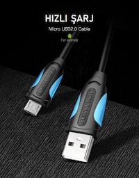 Vention Micro USB Kablo 2A USB 2.0 480 Mbps