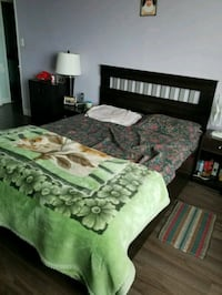 brown and green floral bed comforter Mississauga, L5B