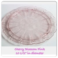 "Depression Pink 10"" cake platter made in the 1930s by Jeannette Glass Las Vegas, 89117"
